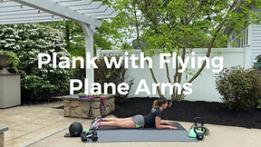 Plank with Flying Plane Arms