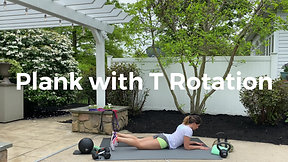 Plank with T Rotation
