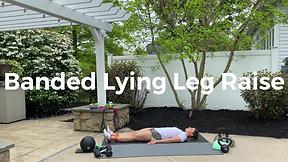 Banded Lying Leg Raise