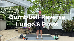 Dumbbell Reverse Lunge & Press
