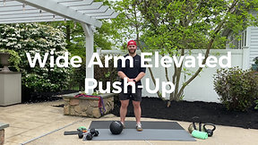 Wide Arm Elevated Push-Up