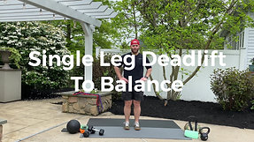 Single Leg Deadlift to Balance