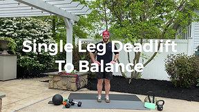 Single Leg Deadlift to Balance