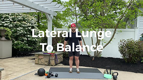 Lateral Lunge to Balance