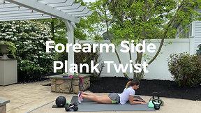 Forearm Side Plank Twist