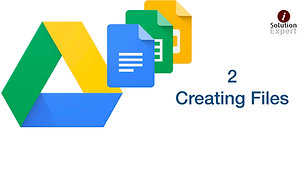 2. Creating Files on Google Drive