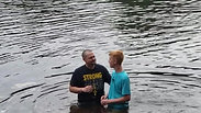 Caleb Dunn's Baptism at Camp Anderson July 5, 2019