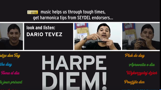 HARPE DIEM! Playing percussions On the harmonica by Dario Tevez (Argenina) -  SEYDEL