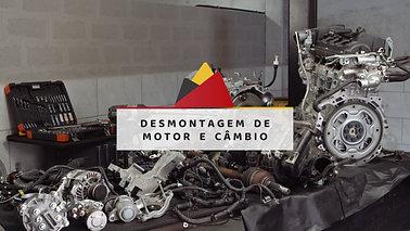 Desmontagem de motor e câmbio