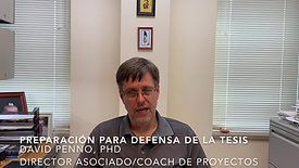 Preparing for the Defense - Spanish
