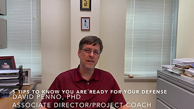 5 Tips to Know You Are  Ready for Your Defense -  English