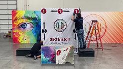 Vertical Cloth SEG Wall Install Video