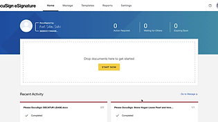 How to create a new template in docusign