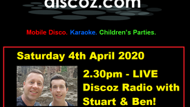 LIVE Discoz.com Radio with Stuart & Ben - Recorded live on Saturday 4th April 2020