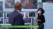 Prof. Dr. José Vicente, reitor da Universidade Zumbi dos Palmares no Fala Brasil da Record TV