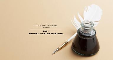 2021 Annual Parish Meeting