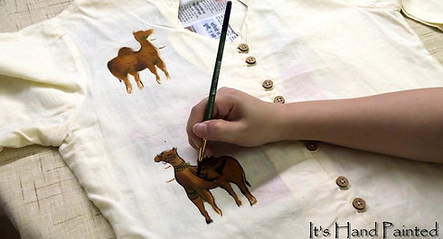 How to paint your old Dress (Kurti) Customized DIY