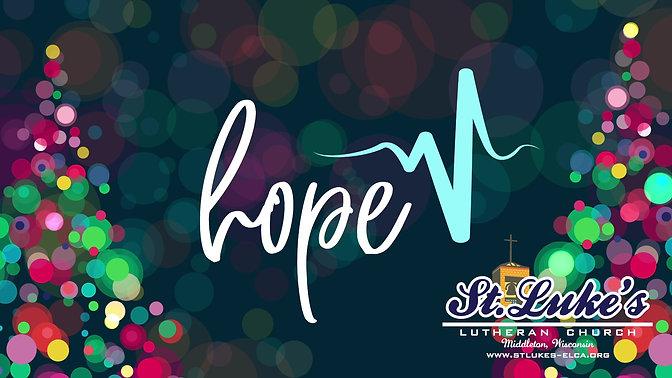 Confirmation Advent Series | Week 1 -  Hope