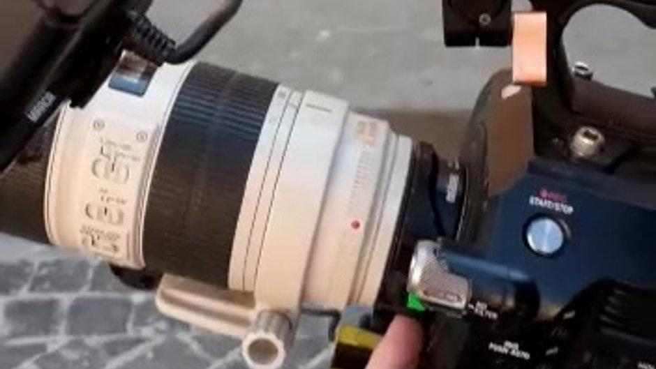 Sony FS7 obiettivo 70/200 canon