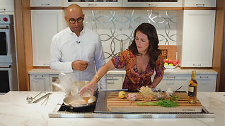 Decorated Chef DOUGLASS WILLIAMS and Anna whip up a Scampi