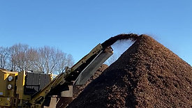 Grinding up the mulch
