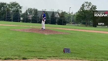 Joey O'Brien Pitching w/Velo (8/25/20)