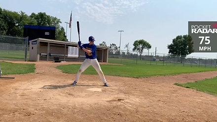 Joey O'Brien Hitting w/Velo (8/25/20)