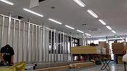 バレエスタジオ・新規間仕切り壁施工