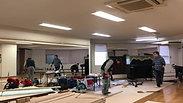 バレエスタジオ・木製フロア ➡ リノリウム仕上げ改修施工