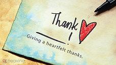 Thank You - November 15, 2020