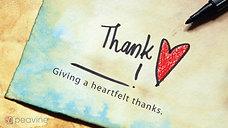 Thank Who? - November 8, 2020