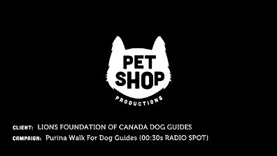 Lions Foundation of Canada Dog Guides - Purina Walk For Dog Guides (30sec Radio Spot)
