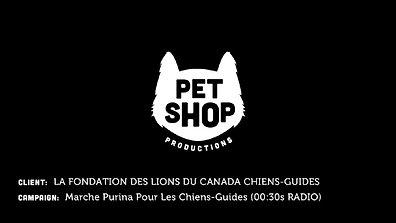 La Fondation des Lions du Canada Chiens-Guides - Marche Purina Pour Les Chiens-Guides (30sec Radio)