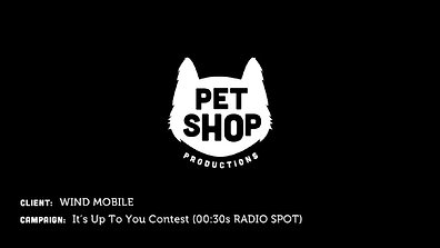 WIND Mobile - It's Up To You Contest (30sec Radio Spot)