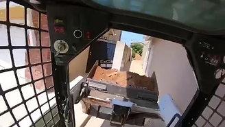 Pool Demolition (Cab View)