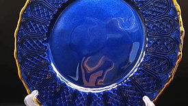 Royal Blue Plate Chargers with Gold Rim
