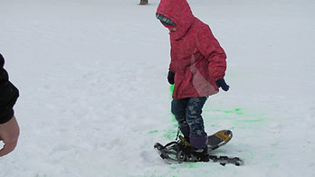 Snowshoe racing during the Winter Carnival