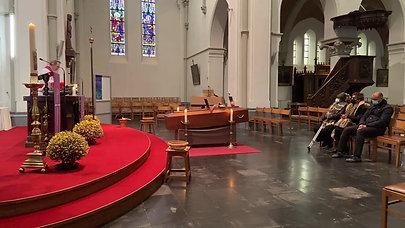 Cérémonie à l'église Sint-Stefaan le 02.12.2020