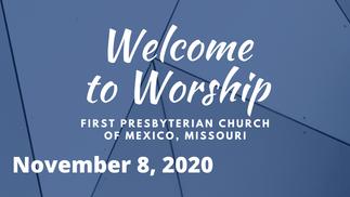 Sunday Service - 11/08/2020