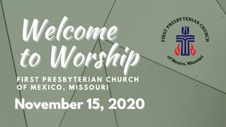 Sunday Service - 11/15/2020