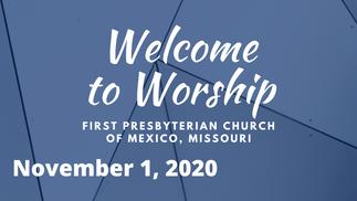 Sunday Service - 11/01/2020