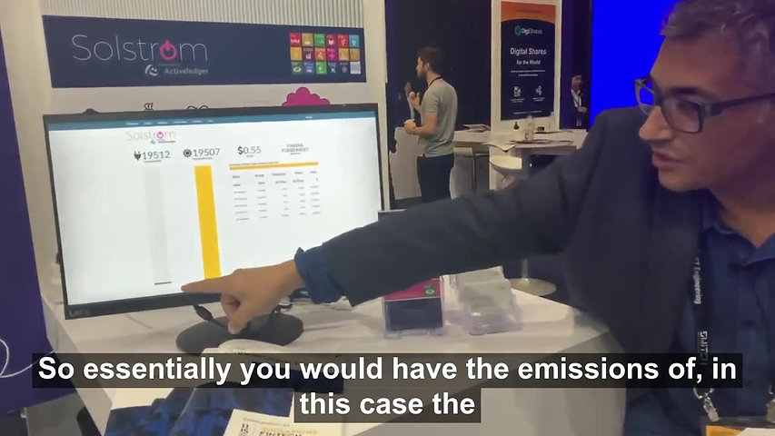 Demonstration at the Singapore Fintech Festival 2019