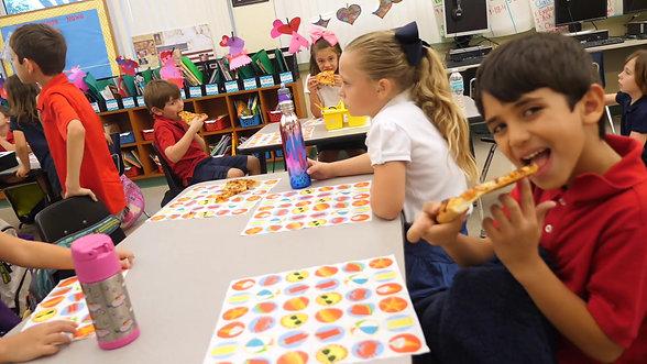Mabry Elementary Logs myON Reading Minutes, Earns Pizza Celebration.