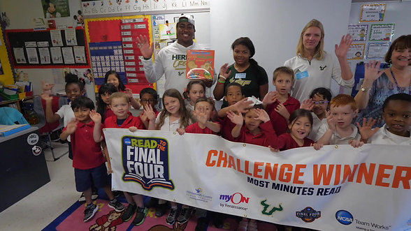 Chiles Read to the Final Four Celebration