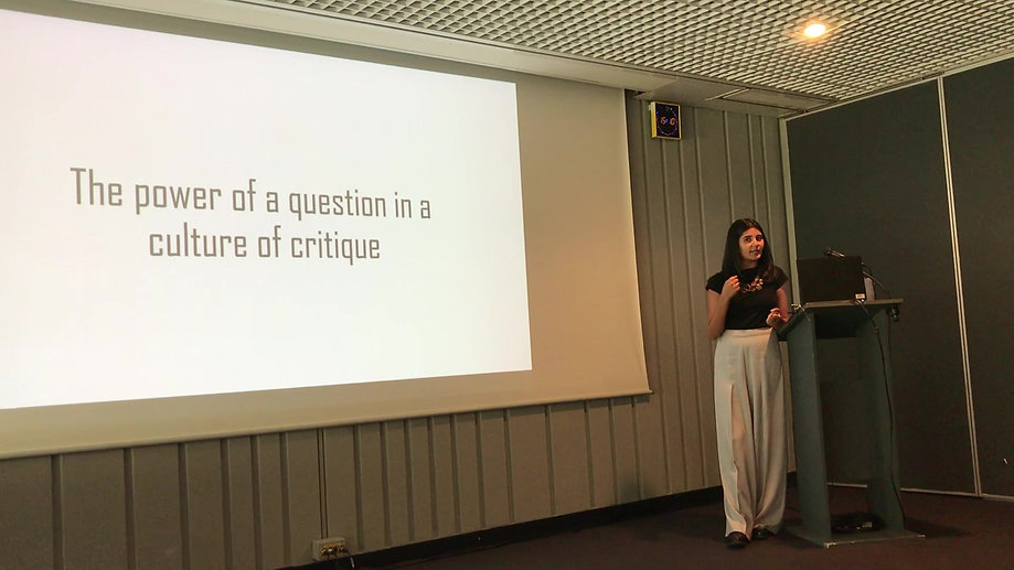The Power of a Question in a Culture of Critique