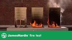 Pruebas de fuego de hojas James Hardie