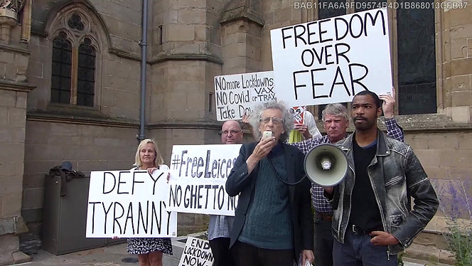 The New Normal Leicester-Lockdown is a racist division ploy - Piers Corbyn at Leicester Rally, July 05