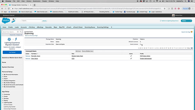 Managing Scan License & Permission Sets