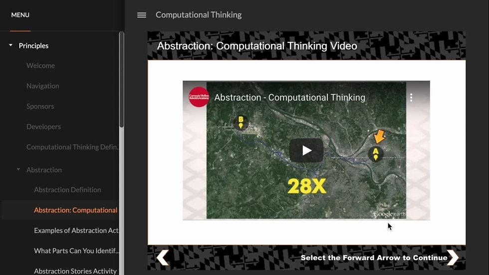 Computational Thinking E-Learning Module