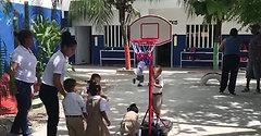 Playing at the backyard